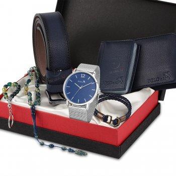 Polo Air Erkek Kol Saati Cüzdan Kartlık Kemer Tesbih Set - 586